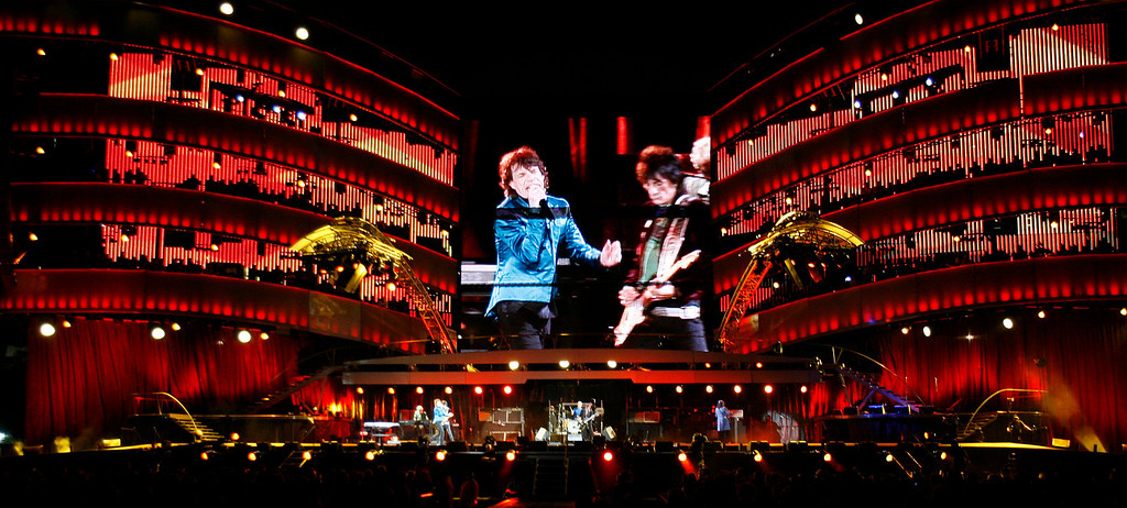 . The Rolling Stones perform at Gillette Stadium in Foxborough, Mass., on Wednesday, Sept. 20, 2006 as they kick off the second half of the A Bigger Bang Tour in the United States. (AP Photo/Robert E. Klein)