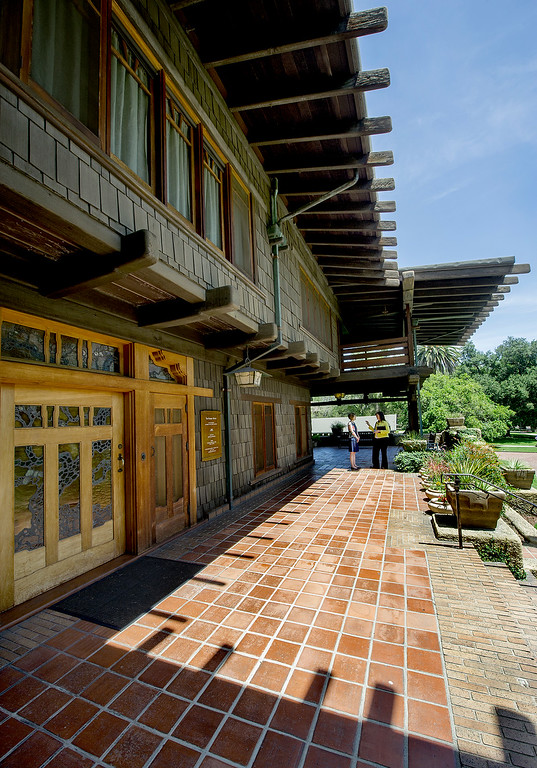 . The Gamble House Tuesday, July 16, 2013. Fans of the BBC�s �Upstairs/Downstairs� and �Downton Abbey� can get a rare, behind-the-scenes look at the real deal when the Gamble House, located at  4 Westmoreland Place in Pasadena. The Gamble House opens up its servants quarters for three weeks only, beginning Aug. 1. The tour is based on new findings about the Gamble family and its servants.(SGVN/Photo by Walt Mancini)