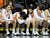 The St. Joseph bench appears to be in agony in the final moments of the game. Chaminade defeated St. Joseph 74-30 in the Girls Div. 3A Finals at the Anaheim Convention Center in Anaheim, CA 2/23/2013(John McCoy/Staff Photographer)