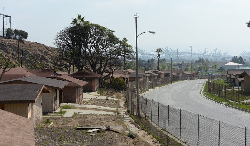 . The Ponte Vista finalized plan is being voted on the by the Los Angeles City Council to develop the former Naval housing base in San Pedro Tuesday, March 04, 2014, San Pedro, CA.   Currently, the houses sit empty and decrepit.   Photo by Steve McCrank/Daily Breeze