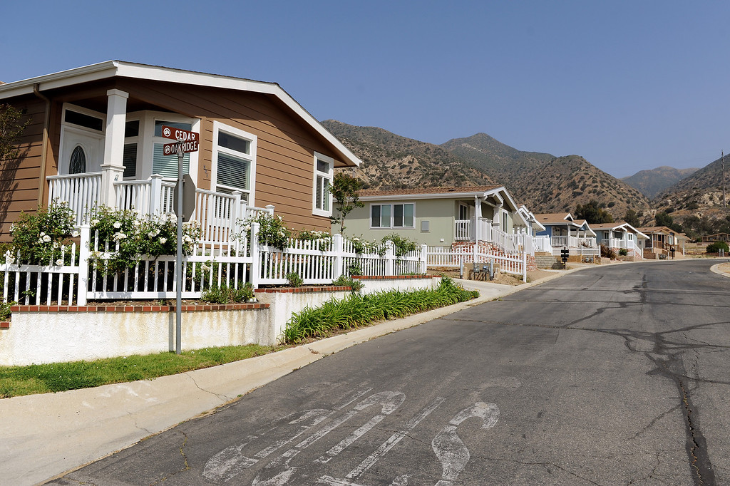 . New homes at Oakridge Mobile Home Park in Sylmar, Tuesday, April 23, 2013. (Michael Owen Baker/Staff Photographer)