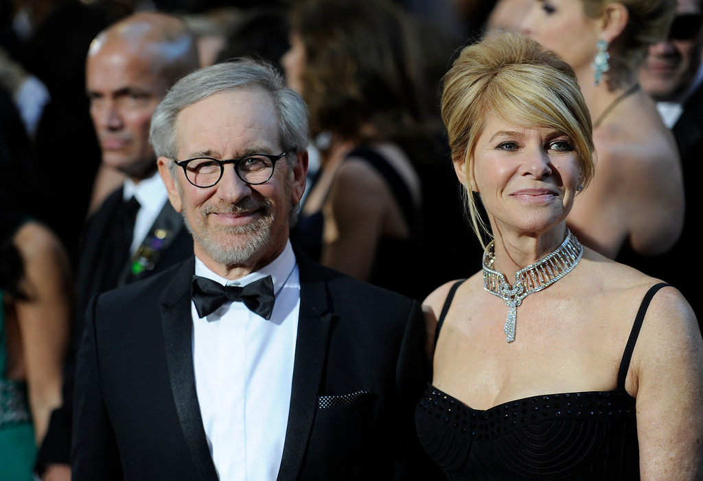 . Steven Spielberg and wife Kate arrives at the 85th Academy Awards at the Dolby Theatre in Los Angeles, California on Sunday Feb. 24, 2013 ( Hans Gutknecht, staff photographer)