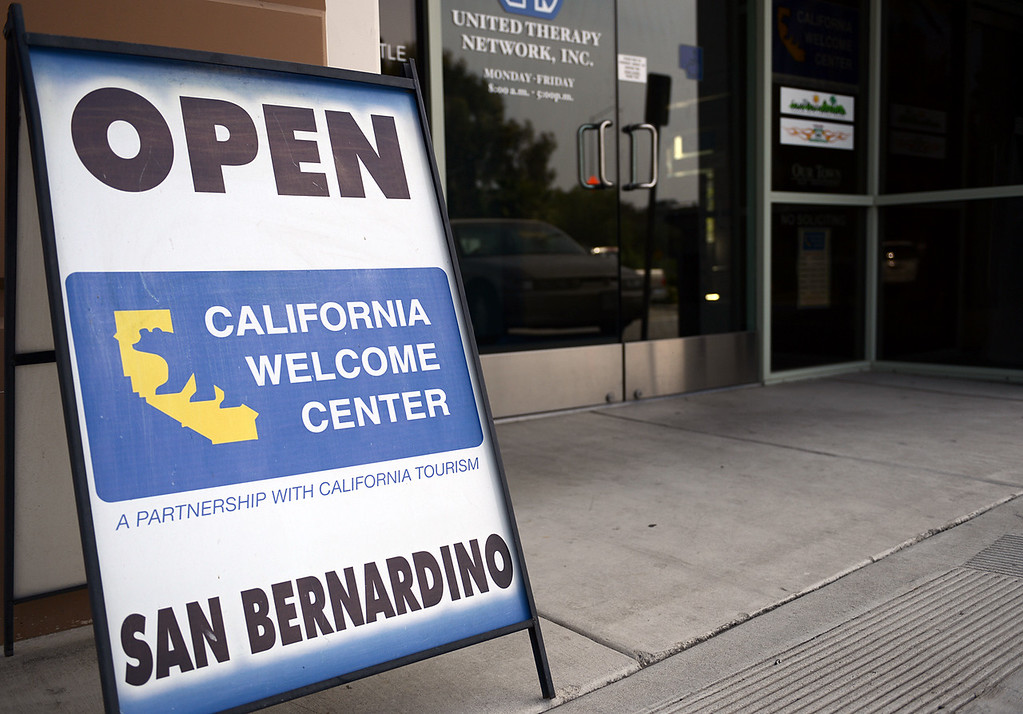 . The California Welcome Center, San Bernardino\'s main marketing and promotion source which  was funded by the city to basically market cool stuff, is going under and will close for good this weekend, yet another victim of a city reeling from insolvency.  Rick Sforza/Staff photo