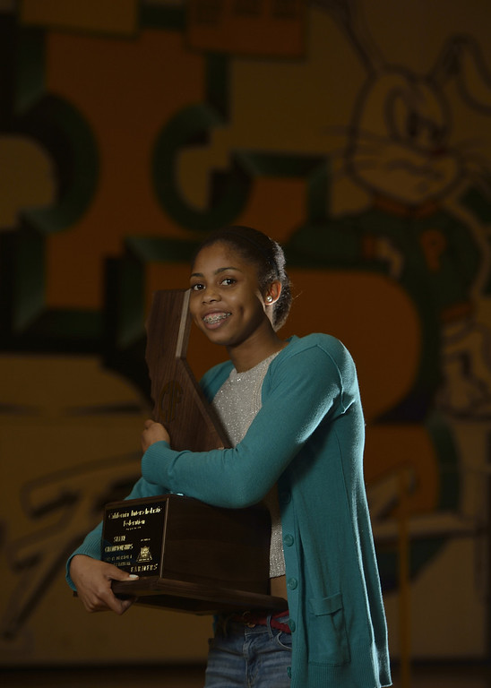 . LONG BEACH, CALIF. USA -- Press-Telegram Dream Team girls basketball  Player of the Year Arica Carter of Poly High on March 28, 2013.  Photo by Jeff Gritchen / Los Angeles Newspaper Group