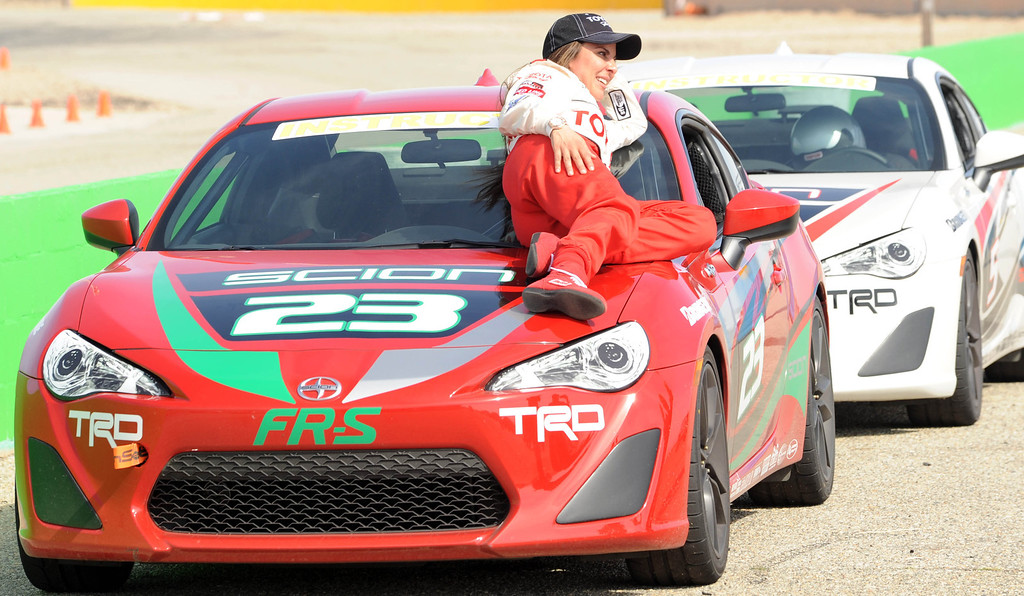 . Rosamond, Calif., -- 03-23-13-  Toyota Pro/ Celebrity Race participant actress Kate del Castillo during a practice session at Willow Springs Raceway. The Toyota Pro/Celebrity Race helps raise money on behalf of Racing for Kids, a fundraising program benefiting Miller Children�s Hospital in Long Beach and Children�s Hospital of Orange County. On behalf of the race and its participants, Toyota has donated more than $2 million to various children�s hospitals since 1991.  Stephen Carr/  Los Angeles Newspaper Group