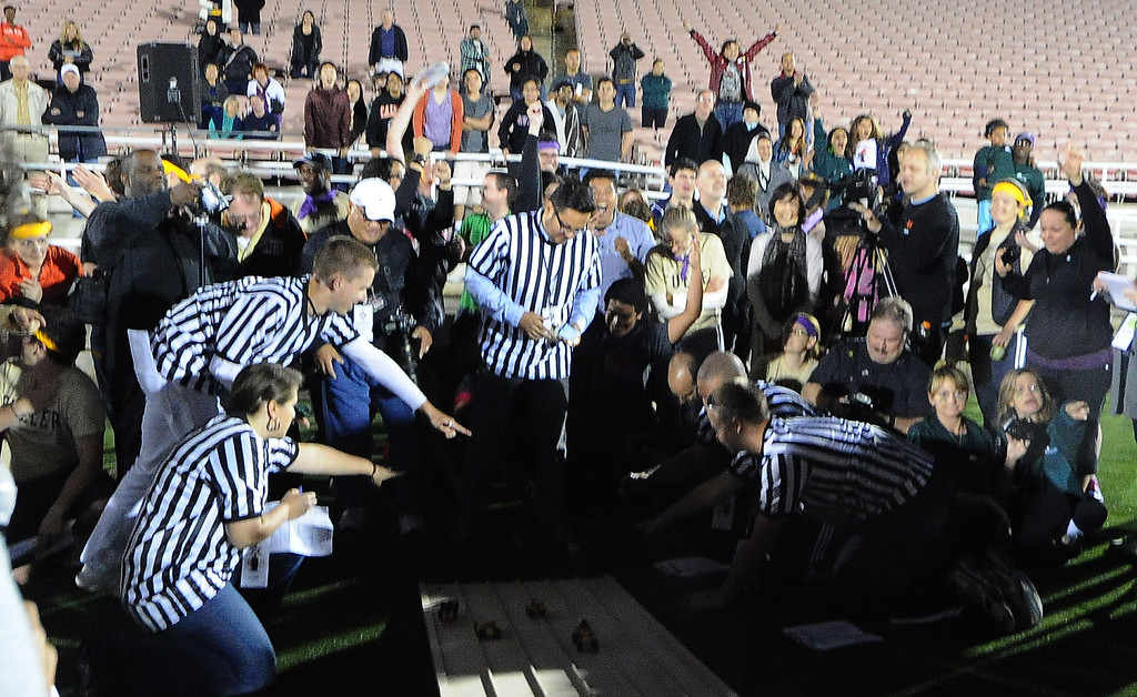 . during the the 2013 Collegiate Field Tournament at the Rose Bowl on Friday, April 5, 2013 in Pasadena, Calif.  (Keith Birmingham Pasadena Star-News)