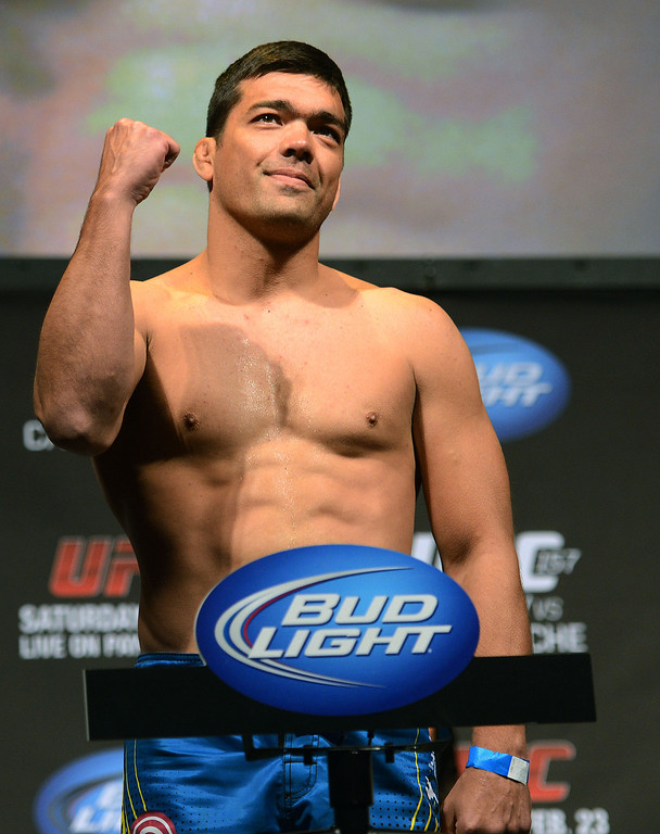 . UFC fighter Lyoto Machida during weigh-ins for UFC 157 Rousey vs Carmouche at the Honda Center in Anaheim Friday, February  22, 2013.  (Hans Gutknecht/Staff Photographer)