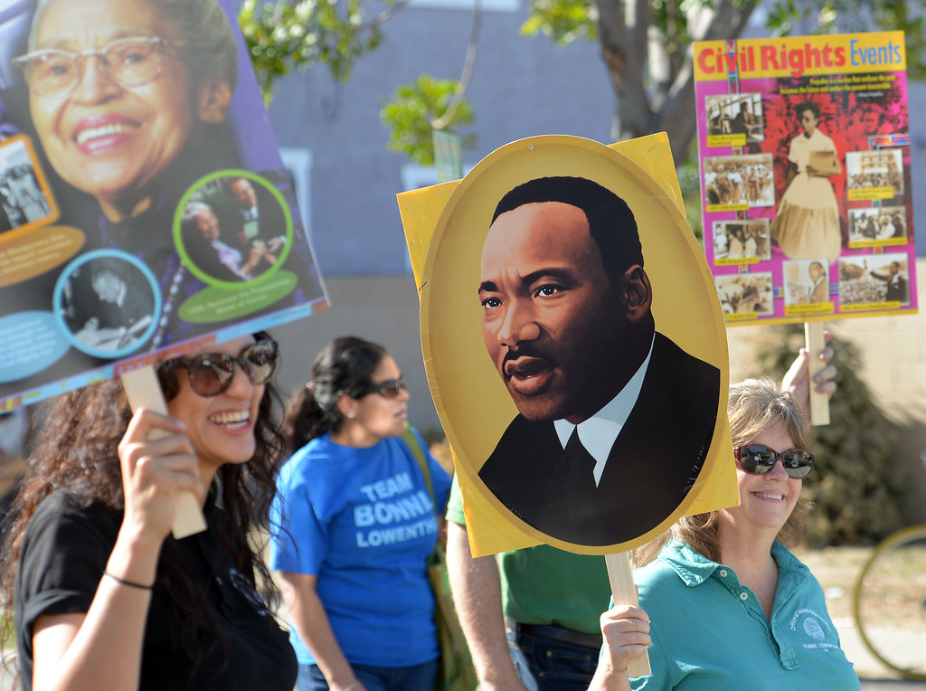 . The 26th Annual Martin Luther King, Jr., Peace & Unity Parade Saturday, January 18, 2014, Long Beach, CA. Images of King Jr., were understandably present through out the parade. Photo by Steve McCrank/Daily Breeze