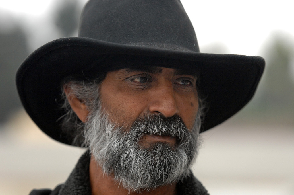 . 8/5/13 - George D\'Silva, 54, has been homeless since 2003. He was diagnosed with colon cancer in 2008 but he is on the mend now. After six months living along the LA Riverbed he now has shelter at the Long Beach Rescue Mission for the next 90 days. D\'Silva doesn\'t want to be homeless. He has a goal of working and supporting himself soon. Photo by Brittany Murray / Staff Photographer