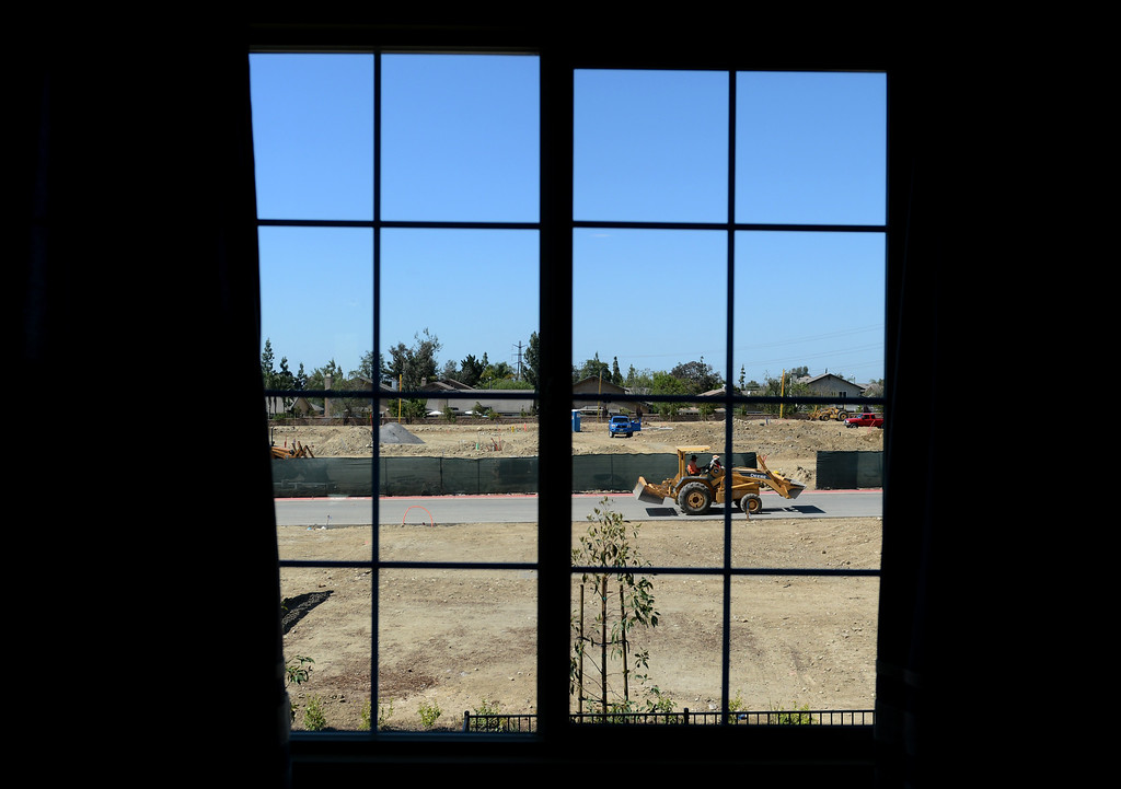 Description of . The new Magnolia Heights neighborhood development at the Colonies in Upland, CA, Monday, May 12, 2014. (Photo by Jennifer Cappuccio Maher/Inland Valley Daily Bulletin)