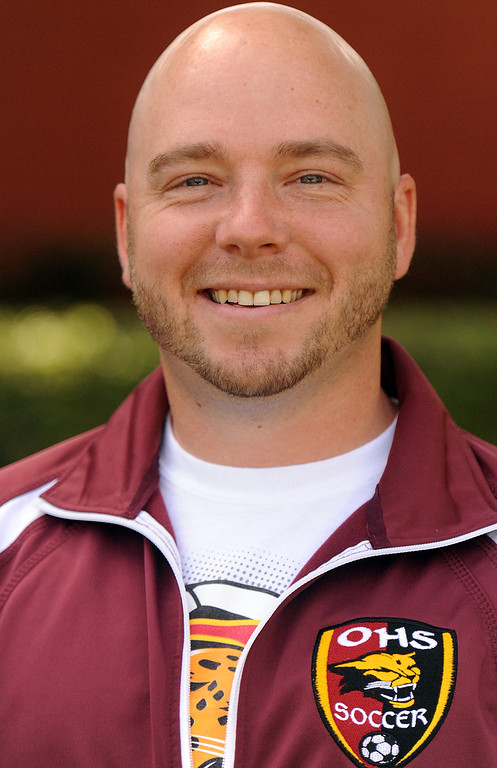 Description of . Vince Mangione boys soccer coach from Ontario High School is coach of the year and has been named to The Sun's All-Valley Boy's soccer team. Staff photo by Will Lester.