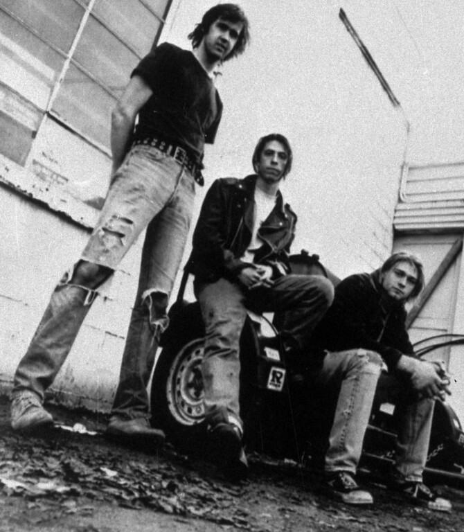 . Members of the band Nirvana shown in a 1991 file photo are (from left) Krist Novoselic, David Grohl, and Kurt Cobain. Novoselic recently sat down with former (Aberdeen) Daily World Publisher and Editor John Hughes for an oral history, which was released Feb. 24, 2009 by the Washington secretary of state\'s Legacy Project. Novoselic said fans should not expect any more Nirvana songs to be released. (AP Photo/Chris Cuffaro, File)
