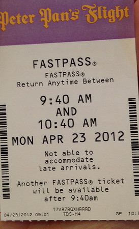 Peter Pan FastPass