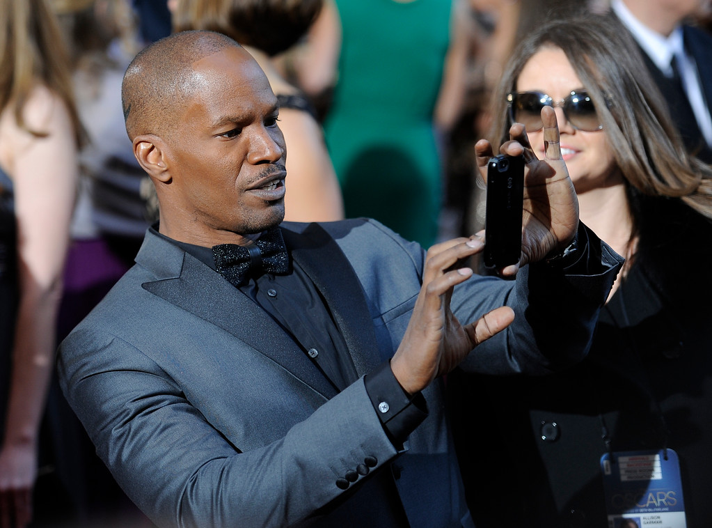 . Jamie Foxx arrives at the 85th Academy Awards at the Dolby Theatre in Los Angeles, California on Sunday Feb. 24, 2013 ( Hans Gutknecht, staff photographer)