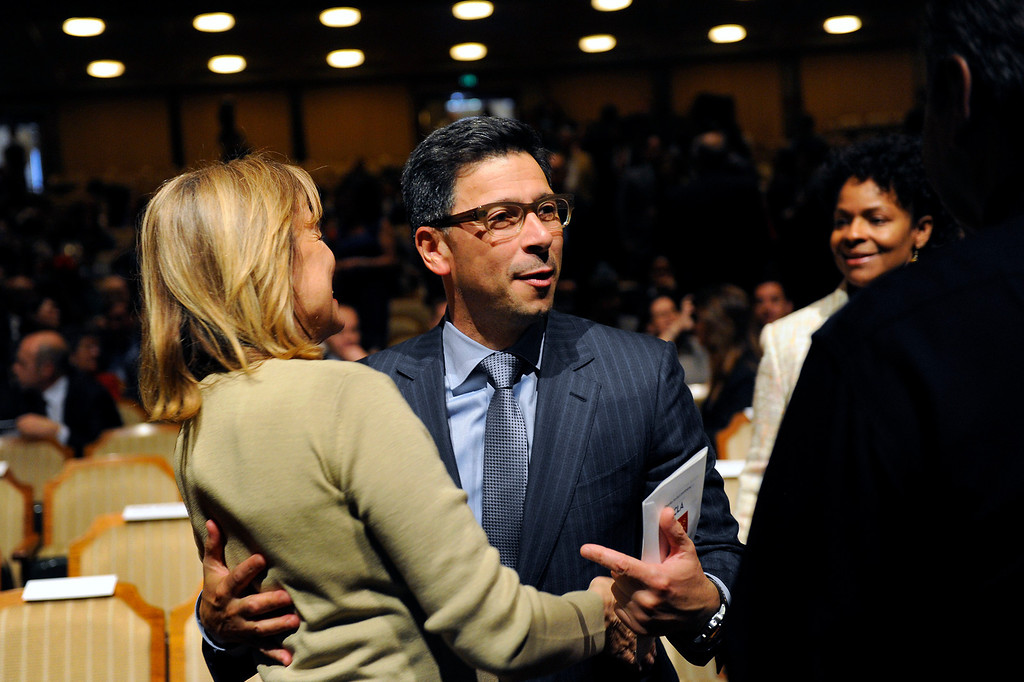 . Fabian Nunez attends Mayor Antonio Villaraigosa\'s State of the City address at UCLA, Tuesday, April 9, 2013. (Michael Owen Baker/Staff Photographer)