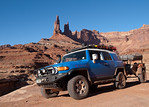 Toyota FJ Cruiser with Washer Woman Arch in background