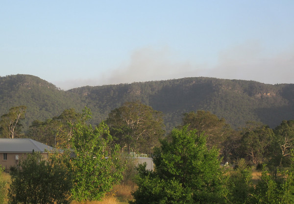 At 6.45 am from Mid Hartley. Wind was from the SW for most of the day so smoke wasn't very visible.