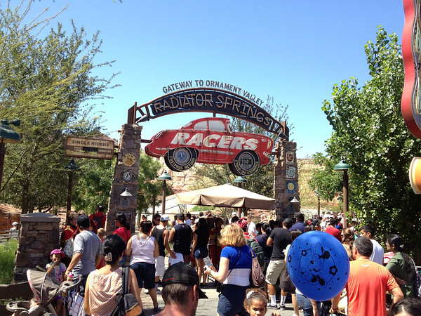 Radiator Springs Racers Entrance