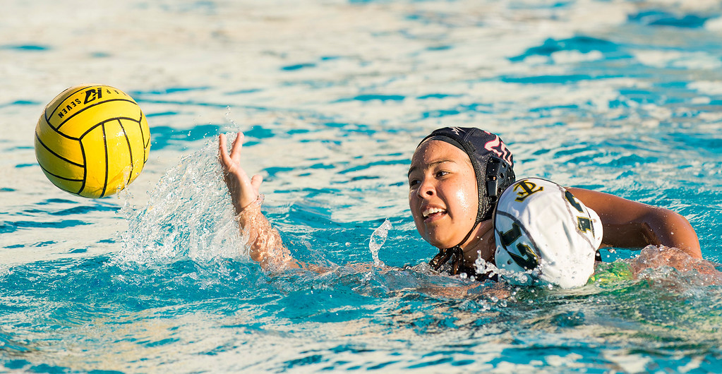 Description of . La Serna High over Temple City High in the CIF-SS girls water polo first-round game 19-4 at Whittier High Feb. 14, 2013.   (SGVN/Staff photo by Leo Jarzomb)