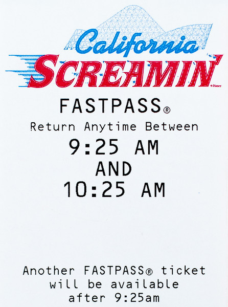 Disneyland FastPass