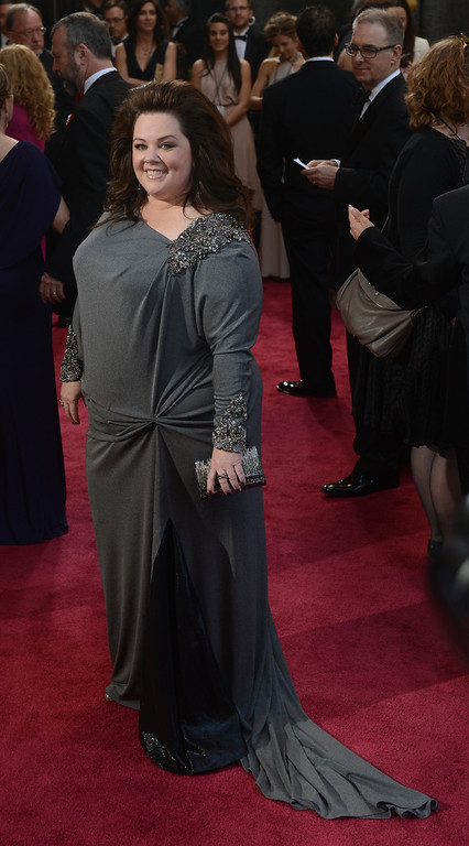 . Melissa McCarthy arrives at the 85th Academy Awards at the Dolby Theatre in Los Angeles, California on Sunday Feb. 24, 2013 ( Hans Gutknecht, staff photographer)