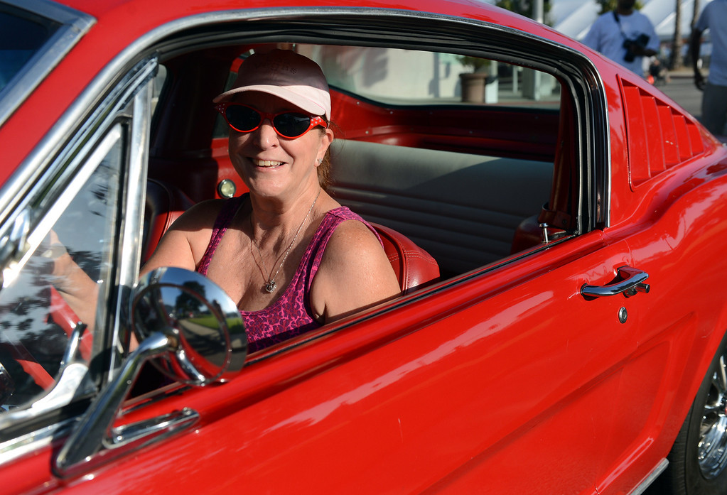 Description of . Route 66 Cruisin' Reunion on Euclid Ave in Ontario, CA Friday, September 20, 2013. (Jennifer Cappuccio Maher/Inland Valley Daily Bulletin)