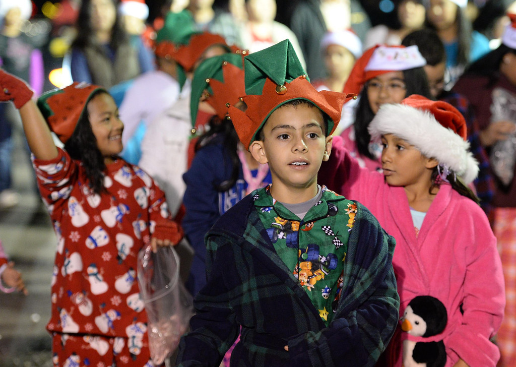 . The 60th annual Daisy Avenue Parade in the Wrigley neighborhood Saturday, December 13, 2013, in Long Beach, CA.  Alice Birney Elementary School. Photo by Steve McCrank/DailyBreeze
