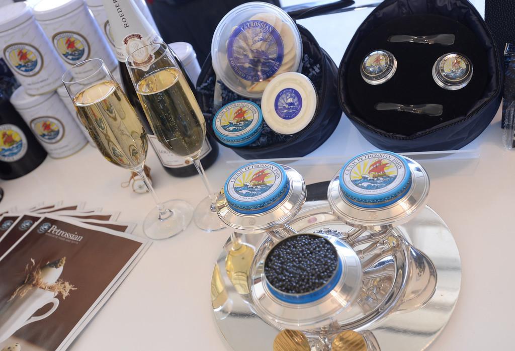 . Petrossian Caviar. Media preview of the new Tom Bradley International Terminal at LAX.  Photo by Brad Graverson 6-20-13