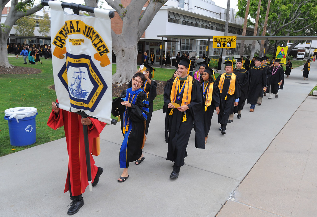 . LONG BEACH - 05/22/2013  (Photo: Scott Varley, Los Angeles News Group)  CSULB began with the first of nine graduation ceremonies that will take place through Friday on the upper campus quad. The College of Heath & Human Services were the first to graduate on Wednesday with student receiving their degrees in Communicative Disorders, Criminal Justice, Family and Consumer Sciences, Recreation and Leisure Studies and Social Work.