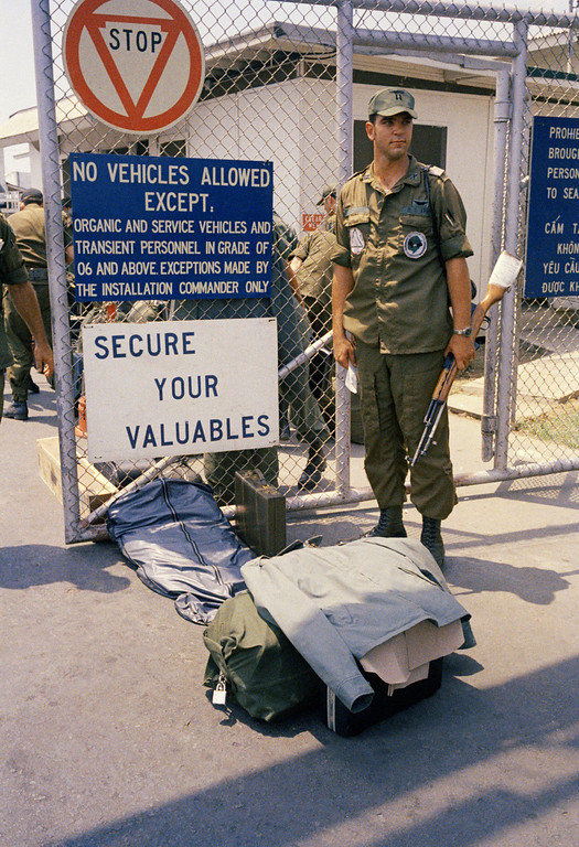 . In this March 29, 1973 photo, Camp Alpha, Uncle Sam�s out processing center, was chaos in Saigon. Lines of bored soldiers snaked through customs and briefing rooms. As the last U.S. combat troops left Vietnam 40 years ago, angry protesters still awaited them at home. North Vietnamese soldiers took heart from their foes\' departure, and South Vietnamese who had helped the Americans feared for the future. While the fall of Saigon two years later � with its indelible images of frantic helicopter evacuations � is remembered as the final day of the Vietnam War, Friday marks an anniversary that holds greater meaning for many who fought, protested or otherwise lived it. (AP Photo)