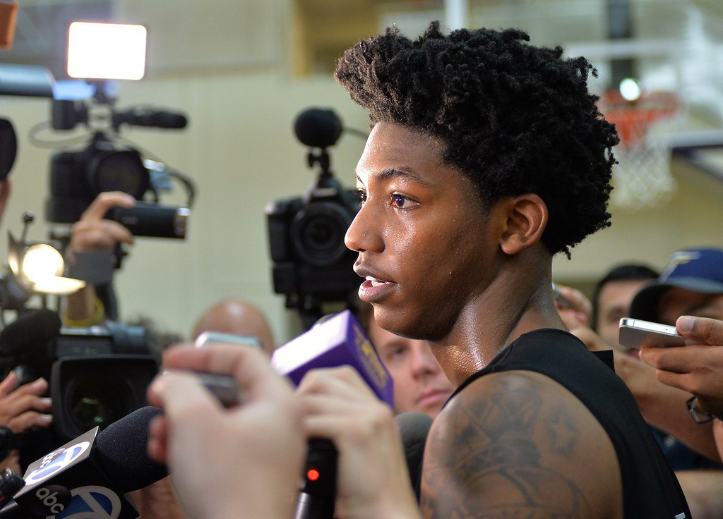 . Lakers host potential draft picks for workouts at Toyota Sports Center in El Segundo Friday June 20, 2014. Elfrid Payton / Louisiana-Lafayette      Photo By  Robert Casillas / Daily Breeze