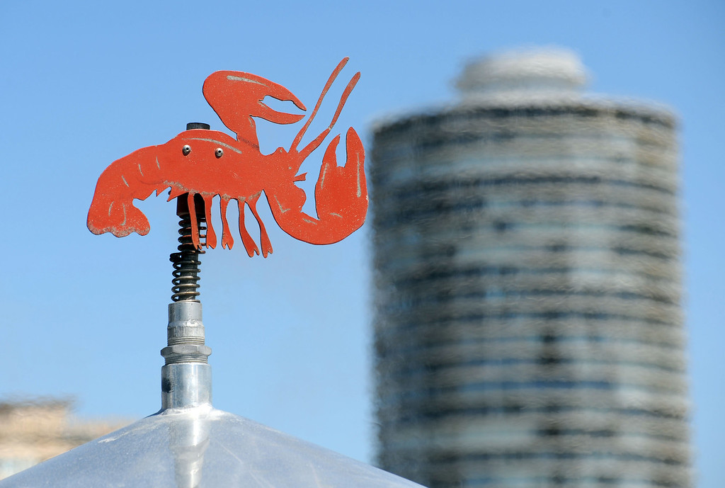 . The 17th Annual Original Lobster Festival at Rainbow Lagoon Sunday, September 08, 2013, in Long Beach.  The top of the cooking kettles sports a lobster cut-out. Photo by Steve McCrank / Daily Breeze