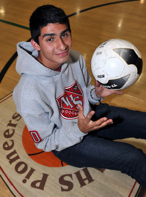 . 3/28/13 - Soccer player of the Year Alex Martinez of Artesia High. Photo by Brittany Murray / Staff Photographer