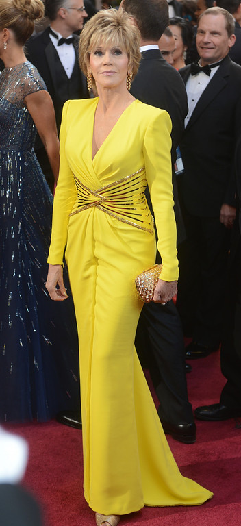 . Jane Fonda arrives at the 85th Academy Awards at the Dolby Theatre in Los Angeles, California on Sunday Feb. 24, 2013 ( Hans Gutknecht, staff photographer)