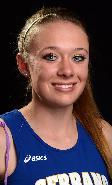 Description of . Melissa Fairchild, of Serrano High School, has been named to the All-Area track team for The Sun. Jenn Maher staff photo The Sun.