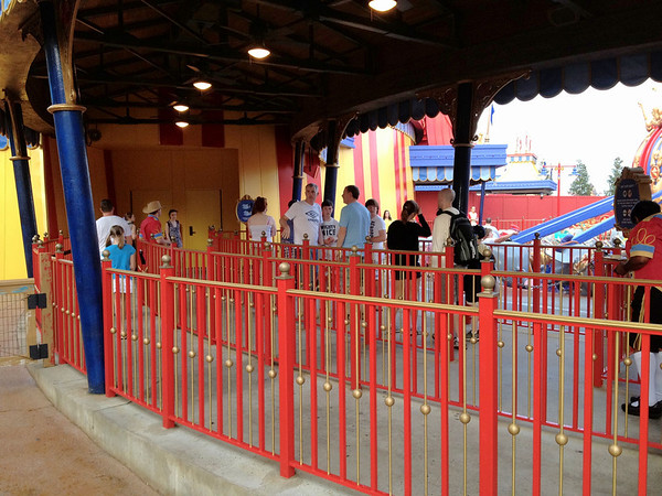 Dumbo at 7:50am. STILL a one-cycle wait!