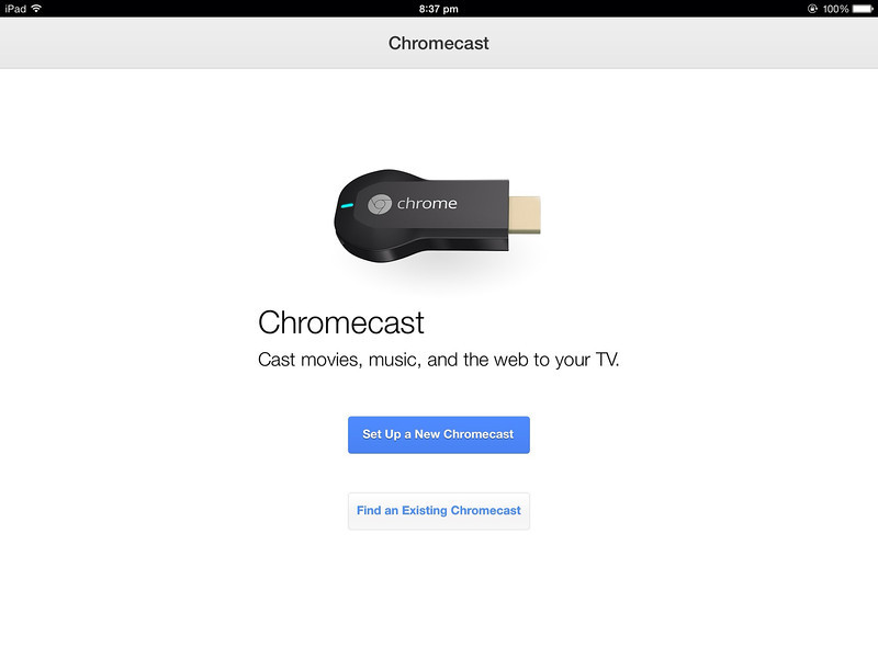 Chromecast Singapore Setting Up on iPad