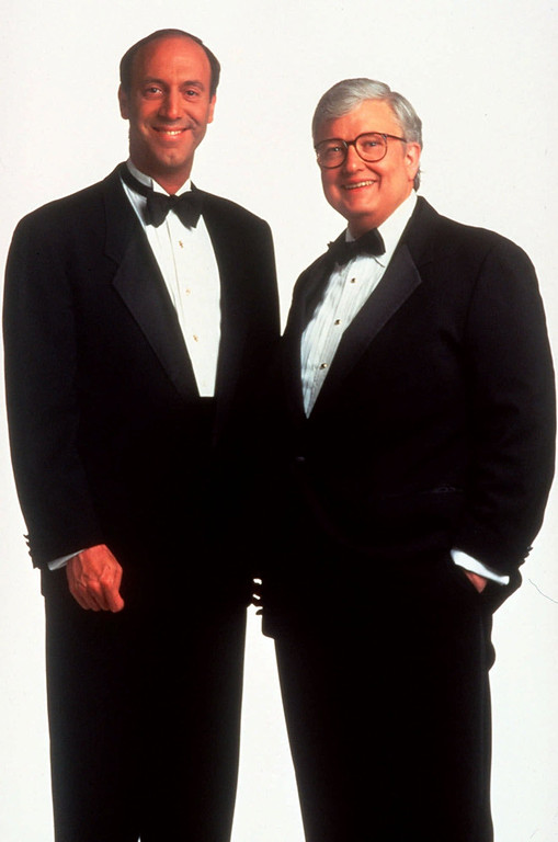 . Film critics Gene Siskel, left, and Roger Ebert are shown in a 1994 photo.  (AP Photo/Buena Vista Television)