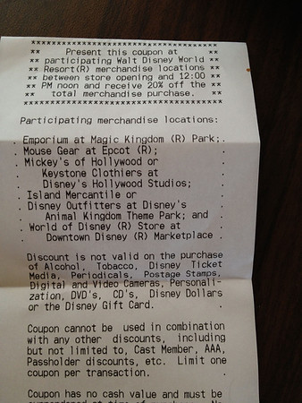Food Receipt