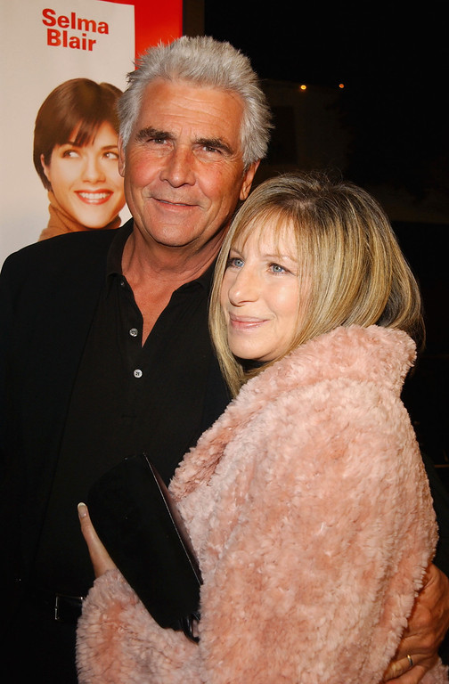 ". Singer/actress Barbra Streisand and husband actor James Brolin attend the premiere of ""A Guy Thing\"" at Mann\'s Bruin Theatre on January 14, 2003 in Westwood, California.  (Photo by Jon Kopaloff/Getty Images)"