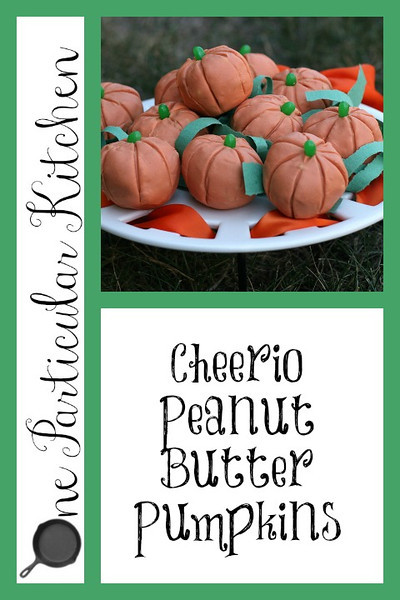 Cheerio Peanut Butter Pumpkins
