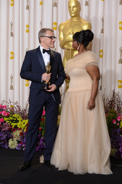 . Best Performance by an Actor in a Supporting Role winner Christoph Waltz backstage at the 85th Academy Awards at the Dolby Theatre in Los Angeles, California on Sunday Feb. 24, 2013 ( David Crane, staff photographer)
