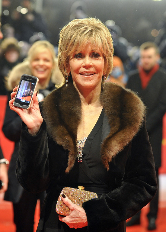 ". US actress Jane Fonda arrives for the premiere of the movie ""Promised Land\"" competing in the 63rd Berlinale Film Festival in Berlin on February 8, 2013. AFP PHOTO / GERARD JULIEN        (Photo credit should read GERARD JULIEN/AFP/Getty Images)"