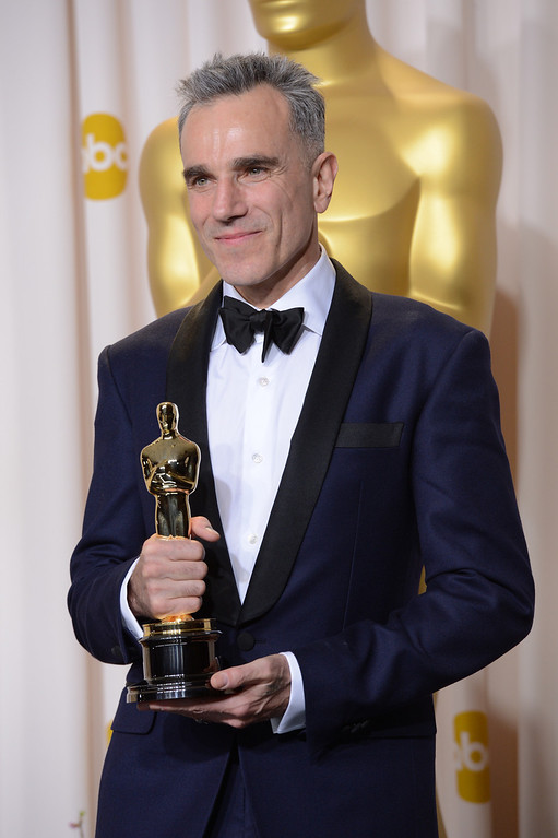 """. Daniel Day-Lewis won the award for best actor in a leading role for \""""Lincoln\""""backstage at the 85th Academy Awards at the Dolby Theatre in Los Angeles, California on Sunday Feb. 24, 2013 ( David Crane, staff photographer)"""