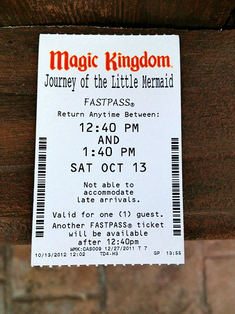 Little Mermaid FastPass Ticket