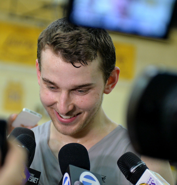 . Lakers host potential draft picks for workouts at Toyota Sports Center in El Segundo Friday June 20, 2014. Nik Stauskas / University of Michigan.     Photo By  Robert Casillas / Daily Breeze
