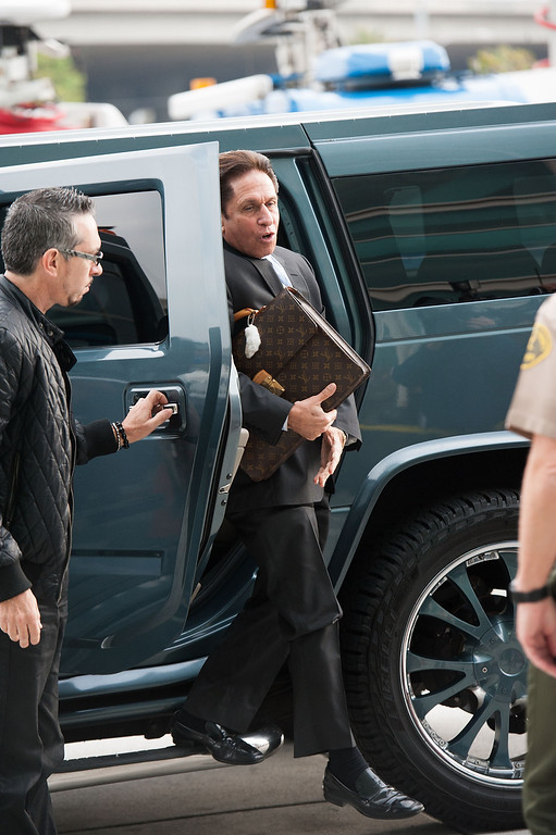 . LOS ANGELES, CA - MARCH 18: Lindsay Lohan\'s lawyer Mark Heller arrives to Lohan\'s trial for allegedly lying to police after a car crash, reckless driving and violating her probation for a 2011 jewelry theft conviction at Airport Branch Courthouse of Los Angeles Superior Court March 18, 2013 in Los Angeles, California.  If convicted Lohan could serve the remainder of her 245 day suspended sentence for her jewelry theft conviction.  (Photo by Valerie Macon/Getty Images)