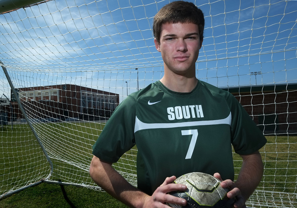 . Daily Breeze Boys Soccer Player of the Year Matt Michell. He was a striker who led South to the Pioneer League title and the CIF-SS Division IV final. 20130328 Photo by Steve McCrank / Staff Photographer