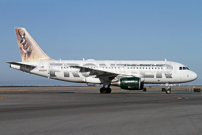 Frontier Airlines (2nd) Airbus A319-111 N906FR (msn 1684) (Pronghorn) SFO (Mark Durbin). Image: 912211.
