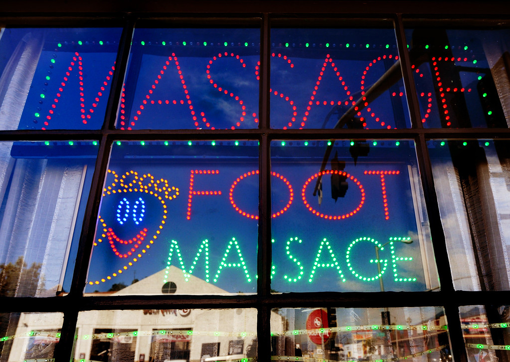 . Massage Parlor on North Hill Avenue in Pasadena Thursday, April 17, 2014. (Photo by Walt Mancini/Pasadena Star-News)